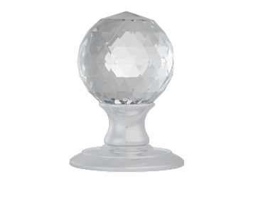 AC020 Ice Facetted Crystal/Satin Chrome